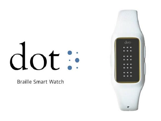 'Dot' Braille Smart Watch นาฬิกาสมาร์ทวอทซ์รองรับอักษรเบรลล์สำหรับผู้บกพร่องทางการมองเห็น