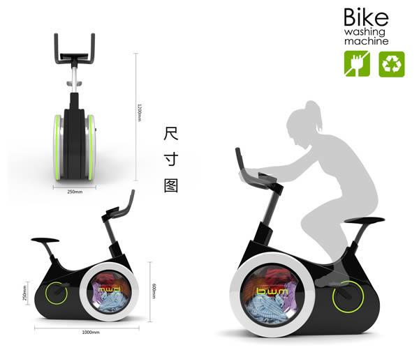 แนวคิดจักรยานเครื่องซักผ้า (Bike Washing Machine : BWM) ปั่นจักรยานไปพร้อมกับซักผ้าในเวลาเดียวกัน