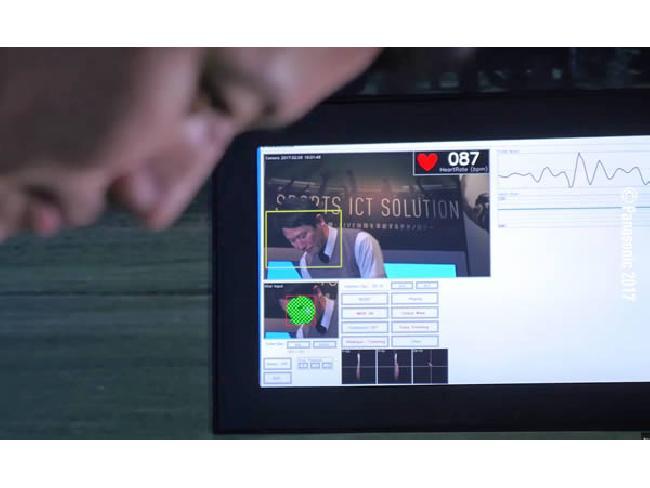 Panasonic นำกล้องวัดอัตราการเต้นหัวใจผ่านสีหน้าไปใช้ในการแข่งกอล์ฟ Panasonic Open 2017