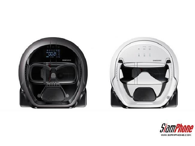 Samsung เผยโฉมหุ่นยนต์ดูดฝุ่นเวอร์ชั่น Star Wars ลายหน้ากาก Darth Vader และ Stormtrooper