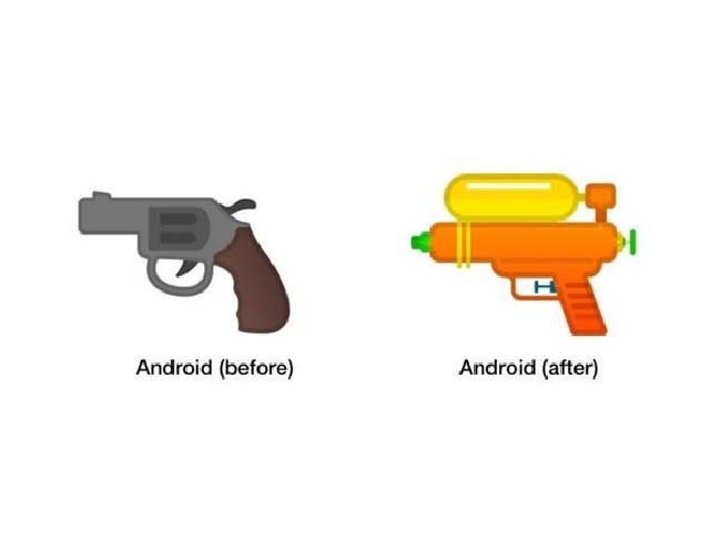 Google กำลังจะเปลี่ยนอีโมจิรูปปืนพกมาเป็นปืนฉีดน้ำแทน