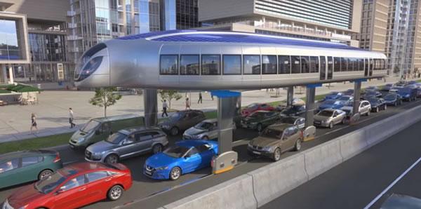 ชมภาพคอนเซ็ปต์ gyroscopic public transportation รถเมล์สาธารณะของโลกอนาคต