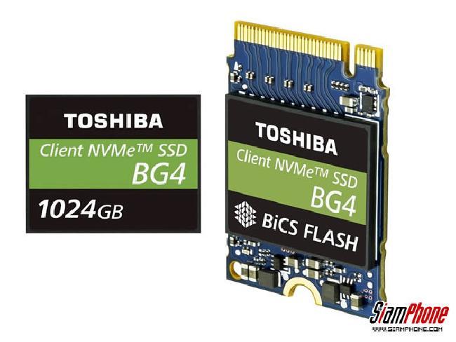 Toshiba Memory เปิดตัว SSD PCIe แบบแพคเกจเดี่ยว 1TB