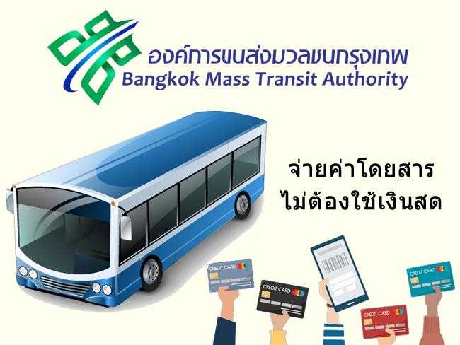 รถเมล์ขสมก. สาย 510 เบิกร่องชำระค่าโดยสารผ่านบัตรเดบิต/เครดิต หรือบัตรสวัสดิการแห่งรัฐ