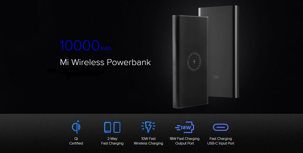 Xiaomi Mi Wireless Powerbank แบตฯ สำรอง ชาร์จไร้สายได้เร็ว 10W เจ้าแรกของโลก