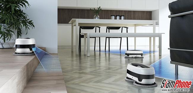หุ่นยนต์ถูพื้นอัตโนมัติ Samsung Jetbot Mop รุ่น VR6000 เพิ่มแรงกดให้พื้นสะอาดหมดจด!!