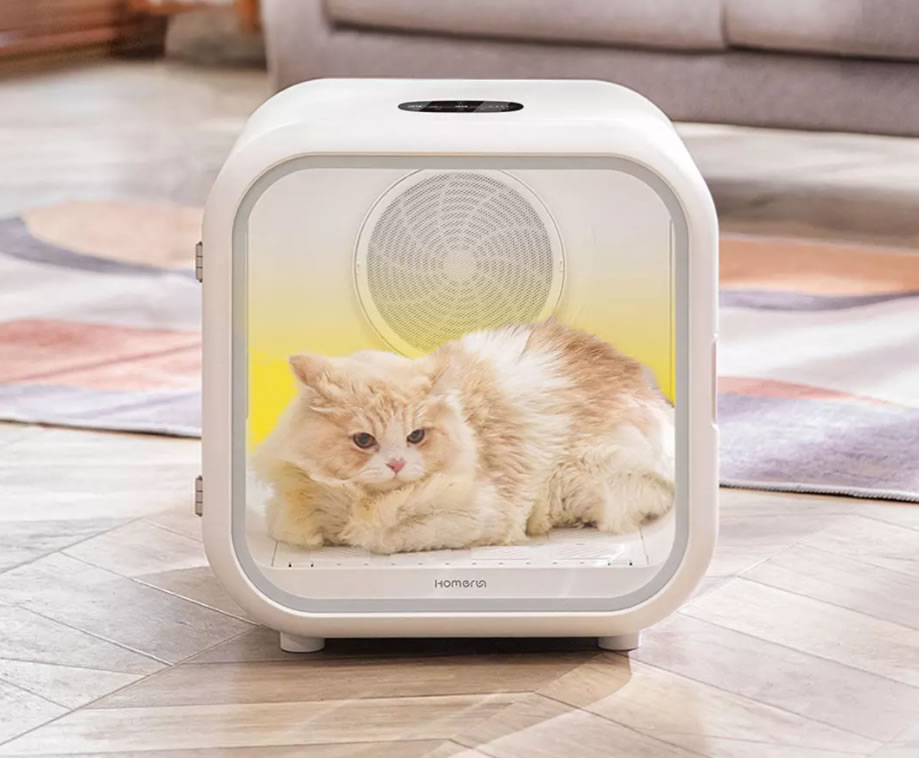 Xiaomi Homerun Pet Drying Box กล่องเป่าขนน้องแมวให้แห้ง ขนไม่ปลิวว่อนแล้ว