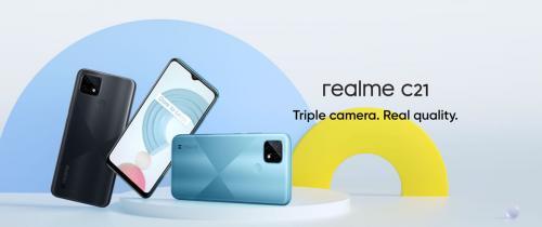 Realme C21 ใหม่ล่าสุด หน้าจอ 6.5 นิ้ว แบตฯ 5000mAh มีกล้องหลัง 3 เลนส์