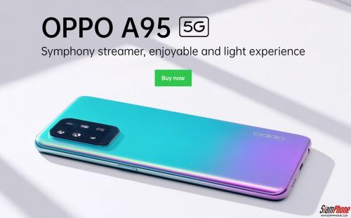 OPPO A95 5G สมาร์ทโฟน 5G ชิปเซ็ต Dimensity 800U หน้าจอ AMOLED สีแจ่มๆ