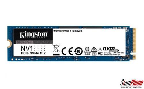 Kingston SSD รุ่น NV1 NVMe PCIe สำหรับแล็ปท็อปหรือเครื่องพีซีขนาดเล็ก