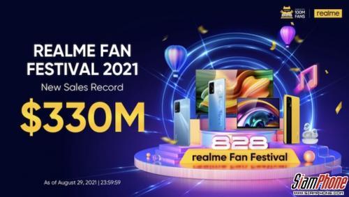 realme ฉลองปิดยอดขายรวม330ล้านดอลลาร์ในงานเทศกาลrealme Fan Festival 2021