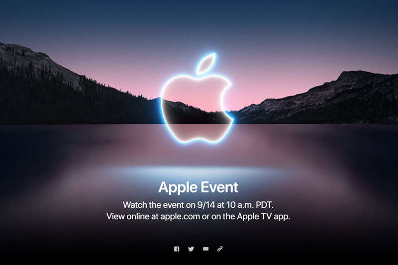 Apple ประกาศจัดงาน Apple Event วันที่ 14 กันยายนนี้