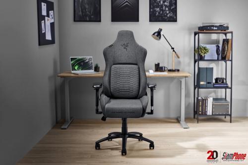 Razer Iskur เก้าอี้เล่นเกมแบบผ้า ออกแบบตามหลักสรีรศาสตร์ สำหรับครอบครัว